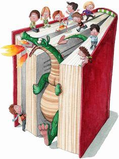 Sant Jordi, dracs i llibres
