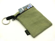 Hemp Key Chain Pouch holds the bare necessities