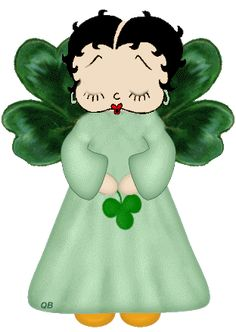 Immagini e gif animate di Betty Boop Saint Patrick\'s Day ~ Gifmania Betty Boop Gifts, Free Animated Wallpaper, Happy St Patricks Day, Mom Day, Classic Cartoons, Animated Cartoons, Memorial Day, Minnie Mouse, Bb