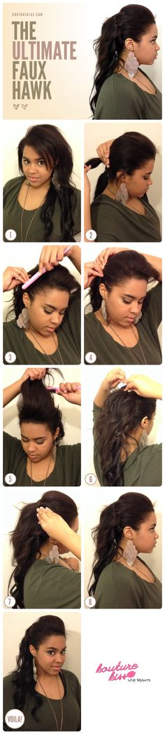 The Ultimate Faux Hawk.. a website that teaches u hairstyles according to your complexion, hair color, hair length etc.