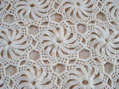 Vintage Crocheted Tablecloth Handmade Pinwheel 52 by VintageLinens