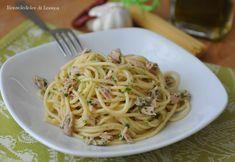 Spaghetti al tonno prezzemolo limone (ricetta veloce)