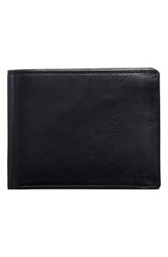 Men's Tumi 'Chambers - Global' Leather Passcase Wallet - Black