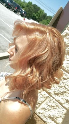 Frozen Strawberry Blonde Hair Color