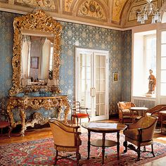 Luxuirous & Opulent Hotel Decor is Lake Como Chic at The Hotel Villa Serbelloni