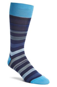 Bugatchi 'Stripe Within Stripe' Socks