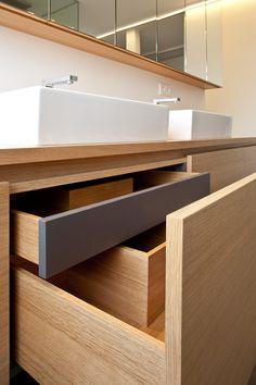New Kitchen Interior Details Drawers Ideas Bathroom Drawers, Bathroom Furniture, Bathroom Storage, Kitchen Furniture, Kitchen Interior, Small Bathroom, Furniture Design, Furniture Stores, Bathrooms