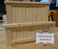 Ana White   Build a Doll Farmhouse Bed   Free and Easy DIY Project and Furniture Plans