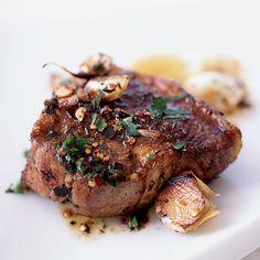 http://www.foodandwine.com/recipes/lamb-chops-sizzled-with-garlic Lamb Chops Sizzled with Garlic | Food & Wine
