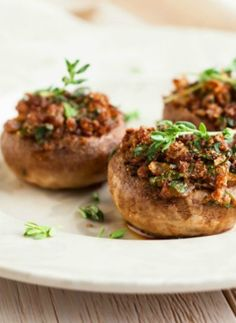 Salami Stuffed Mushrooms, an easy recipe for a quick dinner or quick appetizer