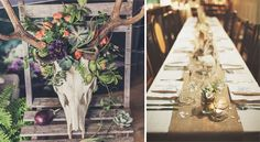 Rustic wedding themes work best at venues that lend themselves well to this look – look for barns with oak beams or rustic wedding venues surrounded by countryside. Nature inspired details are key to pulling off a rustic theme, and it's any easy trend to overlap with vintage inspired details too