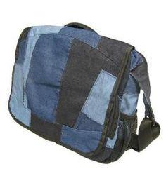 TerraCycle Denim Messenger Bag