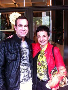 Con la Grande Carmen Ruscadella. Hotel Mandarim. Barcelona.