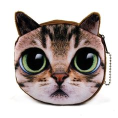 2015 새로운 고양이 얼굴 지퍼 케이스 동전 지갑/레이디 귀여운 지갑 파우치/여성 소녀 메이크업 버기 가방/무료 배송