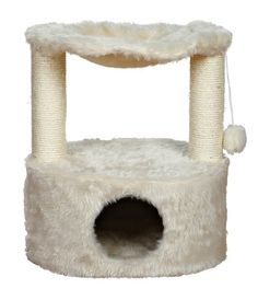 Give your cat a taste of total luxury with the Trixie Pet Products Baza Grande Cat Tree. Designed with your cat's comfort in mind, this style is covered in ultra-soft, long-haired plush and features a comfy hammock suspended above the cozy condo. Hammock Cover, Cat Hammock, Cat Tree House, Cat Activity, Cat Scratching Post, Cat Scratcher, Cat Condo, Cat Supplies, Cat Furniture