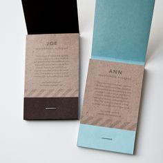 clever matchbook notepads.