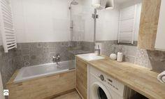 łazienki w stylu skandynawskim - Mała łazienka w bloku bez okna, styl skandynawski - zdjęcie od Grafika i Projekt architektura wnętrz