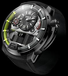 $45,000, Brilliant engineering! HYT H1 Hydro Mechanical Watch