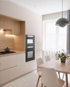 Kitchen Room Design, Modern Kitchen Design, Home Decor Kitchen, Interior Design Kitchen, Küchen Design, House Design, Modern Kitchen Interiors, Cuisines Design, Minimalist Kitchen