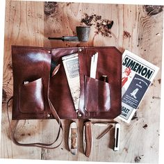 Leather Pipe Pouch The Standard by SorringowlandSons on Etsy