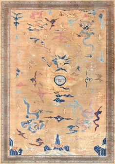 Chinese Art Deco Rug - Click here to view this absolutely beautiful Chinese Art Deco Rug 46621 from the Nazmiyal Collection in New York City!