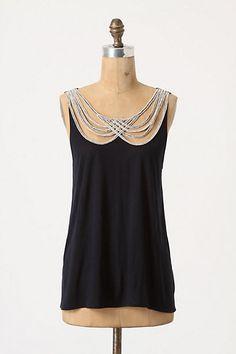 pretty - scalloped string neckline.