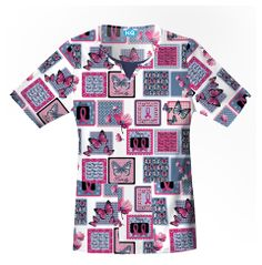 Breast Cancer Wings Of Hope Scrub Top Cherokee Scrubs, Scrub Tops, Breast Cancer Awareness, Wings, Men Casual, Butterfly, Nurses, Mens Tops, Free Shipping