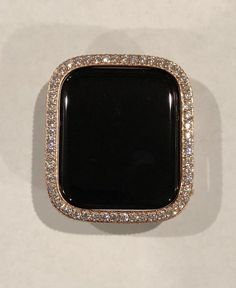Fits new Series 4 Apple Watch Bezel Case Cover Bezel Rose Gold For Apple Watch Band Iced Out Lab Diamonds Series Listing is for Bezel only no band Rose Gold Case Cover Custom Plated Rose Gold Metal Bezel with Large lab diamonds around the face and Rose Gold Apple Watch, Apple Watch Bands, Apple Watch Accessories, Rose Gold Watches, Wrist Watches, Lab Diamonds, Gold Bands, Quartz Watch, Bling