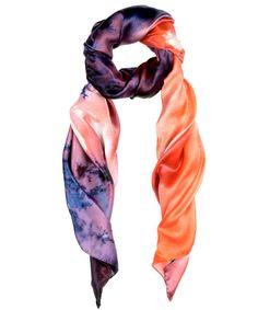Orange Agate Silk Scarf