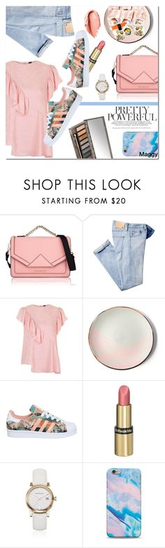 """""""Sushi tonight?"""" by ana-mag ❤ liked on Polyvore featuring Karl Lagerfeld, AG Adriano Goldschmied, Topshop, Sarah Cihat, adidas, Urban Decay, Dr.Hauschka and Burberry"""