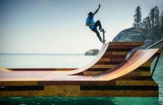 FLOATING SKATEBOARD RAMP | LAKE TAHOE. Extreme of extremes! Check it out on jebiga.com