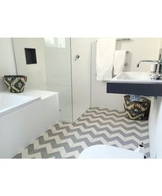 Chevron White Encaustic Cement Tile