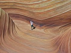 A person in The Wave to show scale by Alaskan Dude, via Flickr