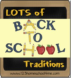 Back to School Traditions including breakfast, pictures, and more! #backtoschool #preschool #homeschool