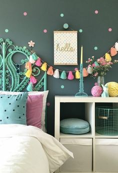 Interior for kids - Easy ways to inject colour into a child's interior space. Simple DIY ideas for teen and tween girls bedrooms. Interior for kids - Easy ways to inject colour into a child's interior space. Summer Bedroom, Teen Girl Bedrooms, Tween Bedroom Ideas, Bedroom Kids, Kids Rooms, Warm Bedroom, Diy Room Decor For Girls, Childrens Bedroom, Pretty Bedroom