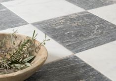 Parisian Chequer Marble, stylish and elegant. Classic Floors, Mid Century Modern Furniture, Beautiful Flooring, Stone Flooring, Checkered Floors, Romantic Interior, Reclaimed Stone, Natural Materials, Marble Tiles