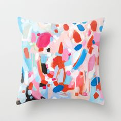 Something Wonderful is About to Happen Throw Pillow by Emily Rickard - $20.00
