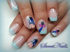 Winnie the Pooh ~ Eeyore nail art
