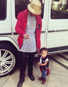 Father & Son ; Tyga & King Cairo .. Cuties