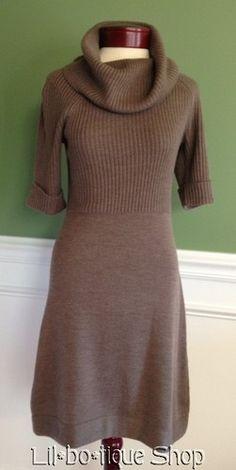 $38.99  Ann Taylor knit dress in minky brown