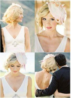 9 ideas de como peinador el cabello corto de una novia