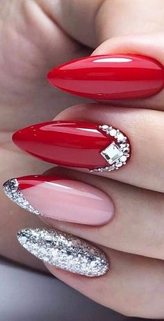 38 Red Nails Design Ideas Different Coffin, Acrylic and Polish nail design red - Nail Desing Red Nail Designs, Short Nail Designs, Nail Polish Designs, Acrylic Nail Designs, Nails Design, Pedicure Designs, Pedicure Ideas, Pedicure Colors, Matte Nails