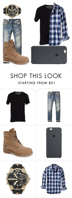 """""""Garroth"""" by theblueraider ❤ liked on Polyvore featuring Dolce&Gabbana, Hollister Co., Timberland, Diesel, Banana Republic, men's fashion and menswear"""