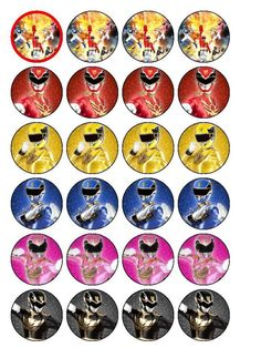 24 Power Rangers Megaforce Cupcake Toppers in Crafts, Cake Decorating Power Ranger Party, Power Ranger Cupcakes, Power Ranger Cake, Power Rangers Dino, Power Rangers Samurai, Power Rangers Megaforce, Thomas Birthday Parties, 5th Birthday, Birthday Ideas