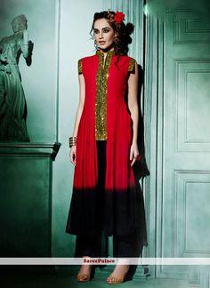 Enchanting Faux Georgette Designer Kurti