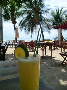 Fresh orange juice at the Beach Club in Pipa, Brasil.