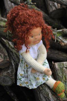 Handgemachte Waldorf inspiriert doll - Mädchen