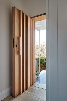 The Surfside House by Robert Plumb Build and Andrew Burges Architects reconfigures a home into a space worthy of the stunning views it conveys. Home Door Design, Wooden Main Door Design, Front Door Design, House Design, House Front Door, House Doors, Entrance Doors, Front Doors, New Homes