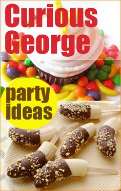 Curious George Party Ideas.  Great party ideas for a boy or girl monkey party.