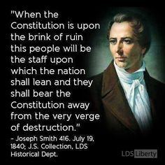 "Read ""The cleansing of America"" by Cleon Skousen. I'm positive that what is in this quote is what Joseph Smith was shown by the Lord in vision."